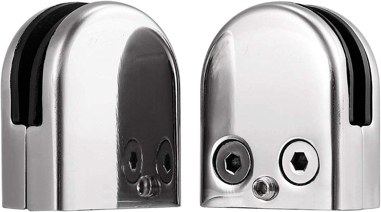 8 St/üke//8-10 Mm Glashalter edelstahl Glasklemme Rostfreier Stahl 304,klemmhalter glas Verstellbare Glashalterung Flache R/ückseite f/ür Balustrade Treppe Handlauf Gel/änder Baustoffe