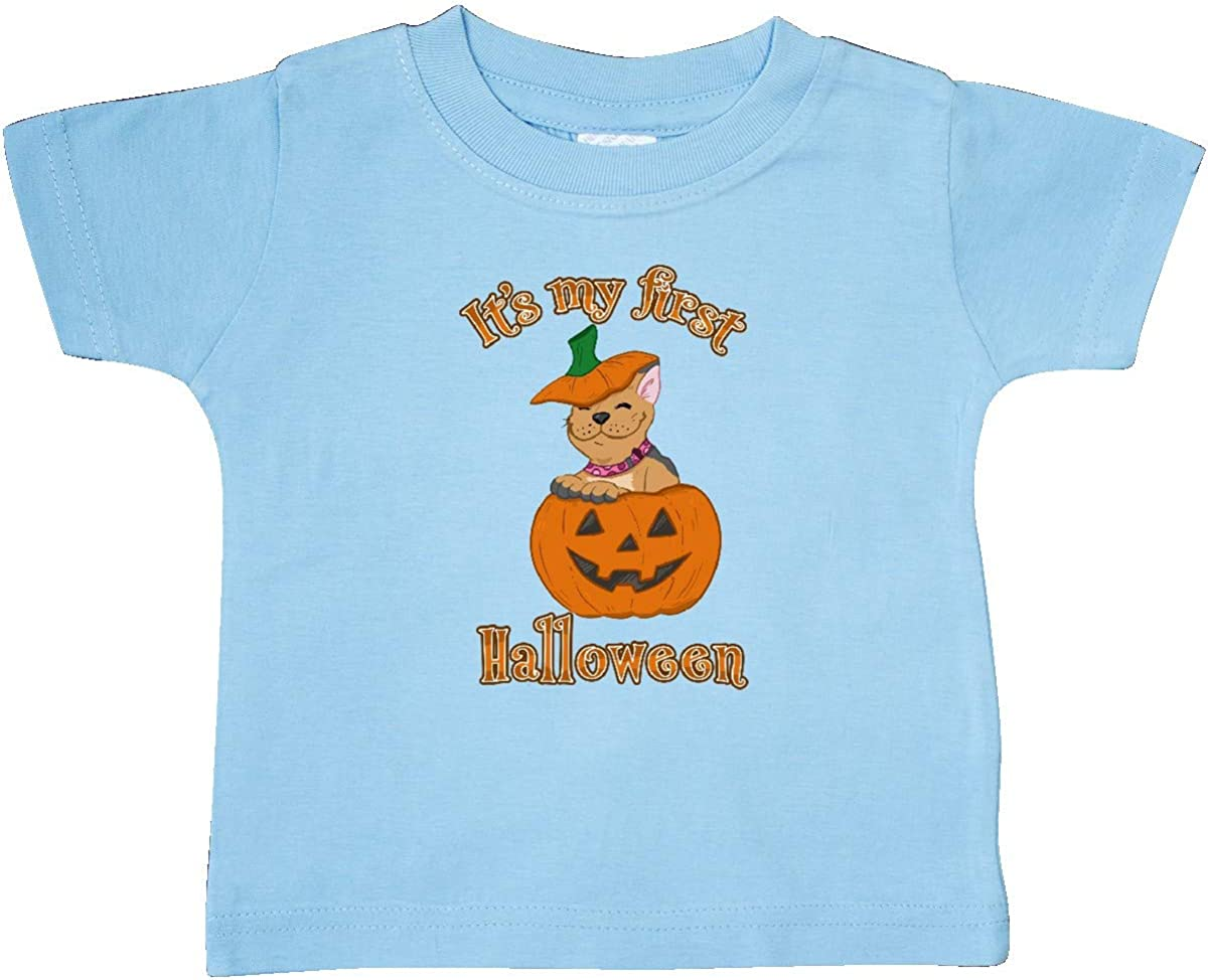 inktastic Its My 1st Halloween Cute Frenchie Puppy Baby T-Shirt