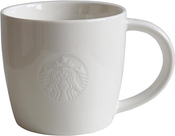 Pack de 2 tazas blancas de 8oz: Amazon.es: Hogar