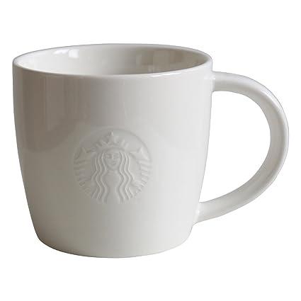 Starbucks Taza De Café Blanco Taza Coffee Mug Fore Here Serie 8oz