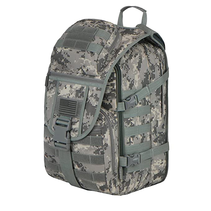 Amazon.com : East West U.S.A RTC504 Tactical Molle Military Assault Rucksacks Backpack, Camo : Sports & Outdoors