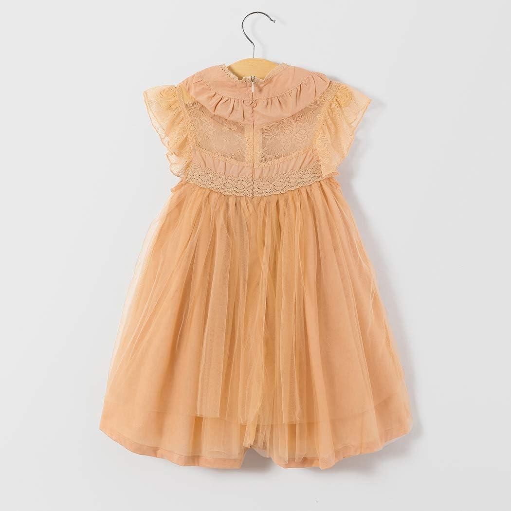 Colorful Childhood Girls Multi-Layer Tulle Lace Dress Princess Wedding Birthday Party Tutu Dress
