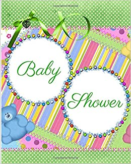 Baby Shower Activity Record Book Activity Journal Message Guest