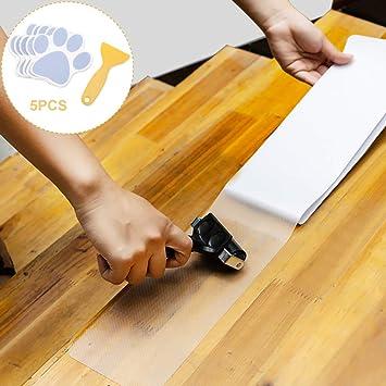 Cinta antideslizante para escaleras (15 unidades) – tiras translúcidas antideslizantes para interiores y 5 pegatinas antideslizantes para el baño, huellas de perro: Amazon.es: Bricolaje y herramientas