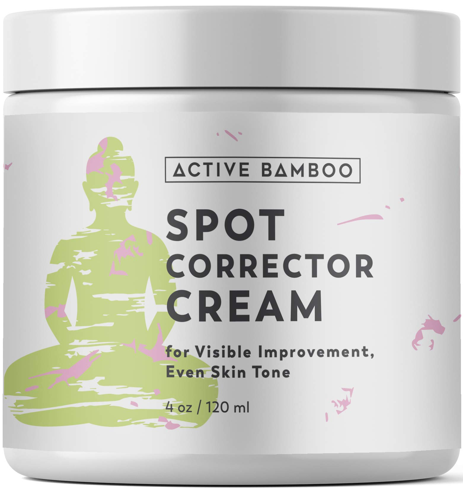 Dark Spot Corrector for Face. Dark Spots Remover Cream, Use for Age Spots on Face Body Hands 4 oz by Active Bamboo