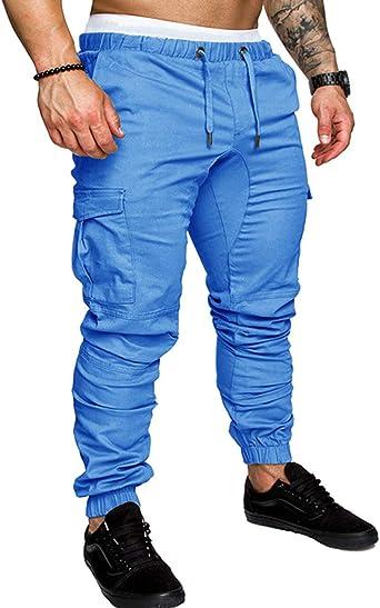 SOMTHRON Hombre Cinturón de cintura elástico Pantalones de chándal ...