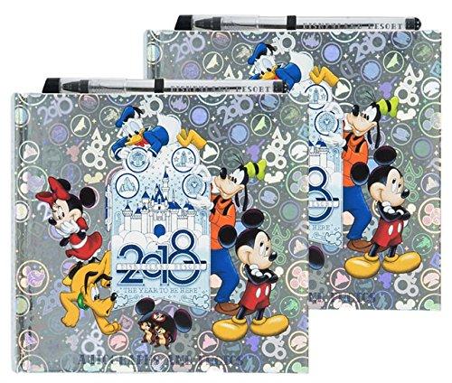 Autograph Disney Albums (Disney Parks Bundle of 2-2018 Disneyland Autograph and Photograph Book with Pen)