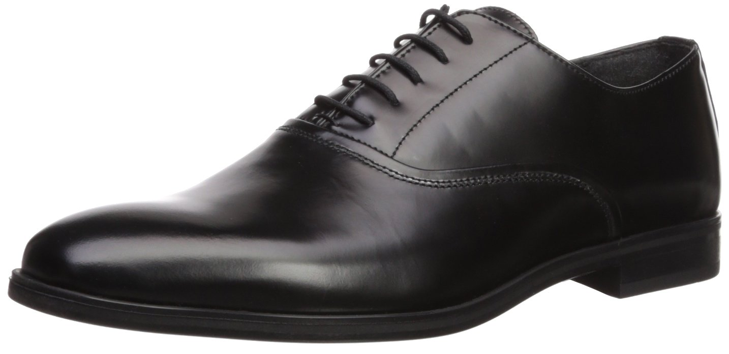 Kenneth Cole REACTION Men's Joshua Lace up Oxford, Black, 8.5 M US