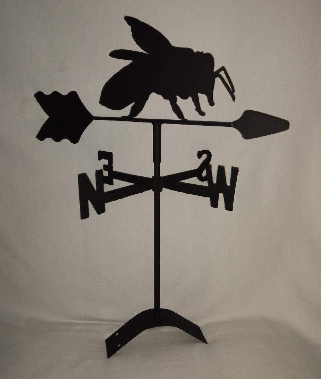 The Lazy Scroll Rampant Lion Roof Mount Weathervane Black Wrought Iron Look