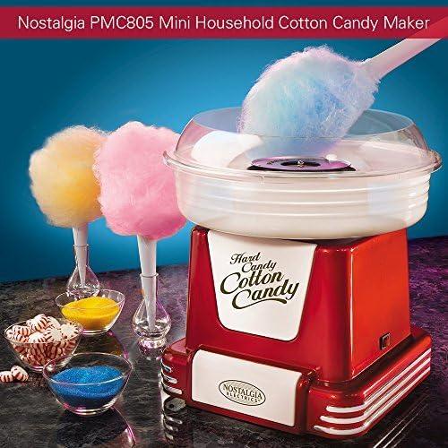 Nostalgia Electrics PMC805 - Máquinas de Algodón de Azúcar Vintage,Color Rojo Metálico: Amazon.es: Hogar
