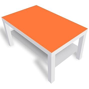 Dekoglas Ikea Lack Beistelltisch Couchtisch Einfarbig Orange