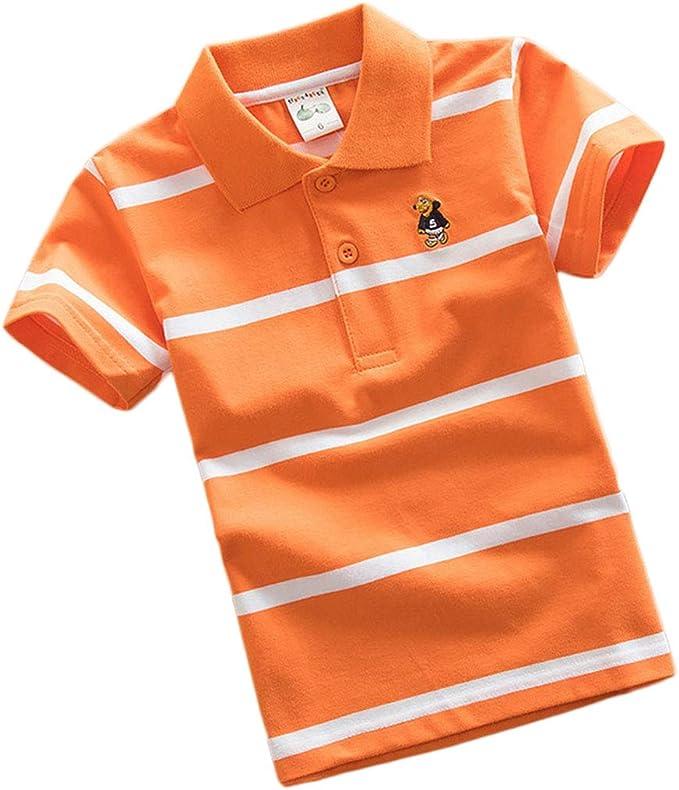 PanpanBox Polo Shirt Niños Camiseta Manga Corta Rayas Tops ...