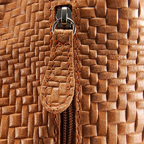 en femme Sac Cognac Mandalay Main cuir tressé à Modèle xFCBqwtH