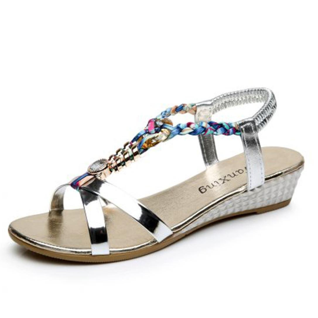 Elecenty Damen Sandalen Schuh Schuhe Schuh Sandalen Sommerschuhe Bequeme Frauen 1e3f69