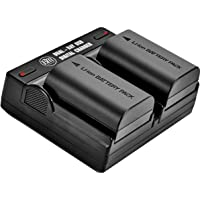 BM 2-Pack of LP-E6N Batteries and Dual Battery Charger for Canon EOS R, EOS R5, EOS 90D, EOS 60D, EOS 70D, EOS 80D, EOS 5D II, 5D III, 5D IV, EOS 6D, EOS 6D II, EOS 7D, EOS 7D II, XC10, XC15 Cameras