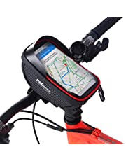 Redlemon Bolsa Impermeable para Bicicleta con Compartimento para Smartphone y Accesorios Pantalla Táctil Ranura para Audífonos Universal con Velcro para Fácil Instalación