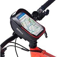 Redlemon Bolsa Impermeable para Bicicleta, con Compartimento para Smartphone y Accesorios, Pantalla Táctil, Ranura para Audífonos, Universal, con Velcro para Fácil Instalación