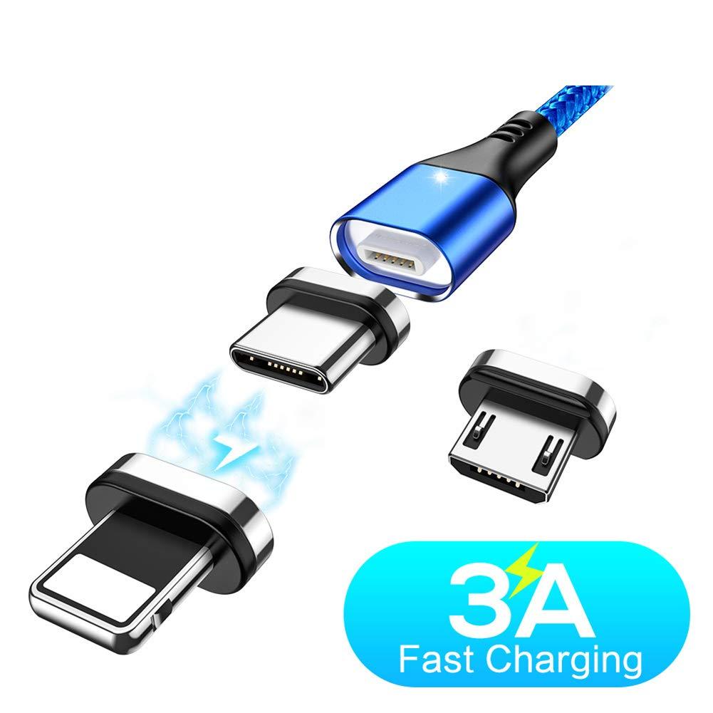 ZUZU Cable magnético Micro USB Tipo C Cable Cargador rápido ...