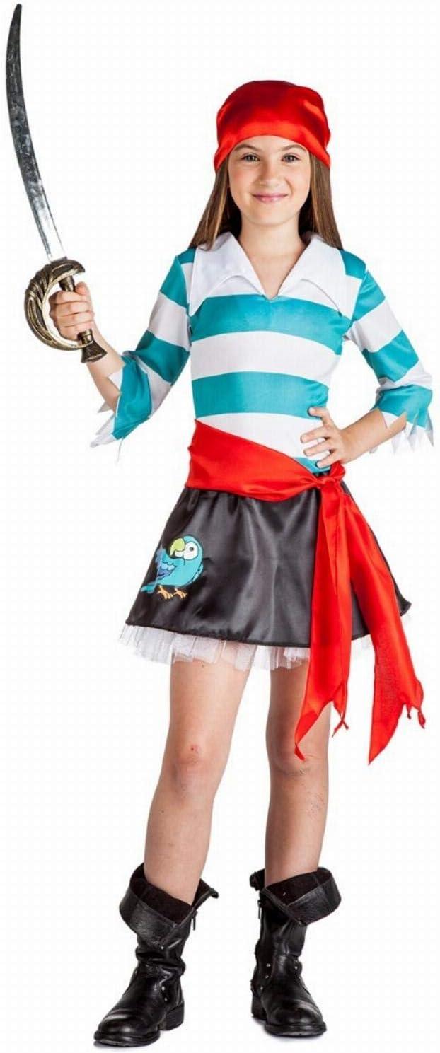 Disfraz de Pirata Loro Niña (5-6 años): Amazon.es: Juguetes y juegos