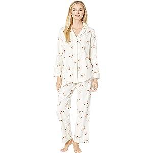 2c5e073b140 Lauren Ralph Lauren Printed Top and Capri Pajama Set (Pink Multi, X ...
