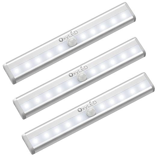 cupboard lighting led. OxyLED Sensor Wardrobe Light, LED Closet Under Cupboard Lighting Battery Operated With Stick Led I