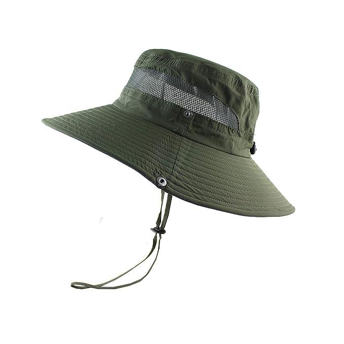 1dafb5e7b Amazon.com: Mesh Bucket Hat Summer Men Women Fishing Hat UV ...