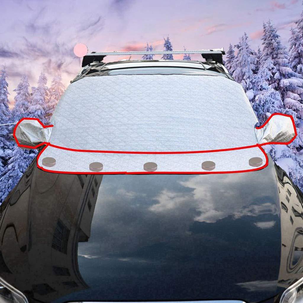Qiman Auto Universal Sonnenschutzabdeckung Dual-Use Winter Vorne Windowshield Seite Rü ckspiegel Schnee Eis Frost Protector Schild 5 Magnete