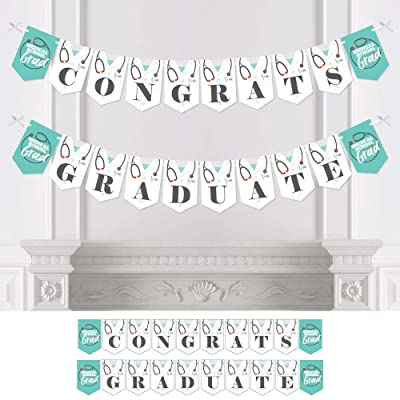 Big Dot of Happiness Medical School Grad - Doctor Graduation Party Bunting Banner - Party Decorations - Congrats Graduate: Toys & Games