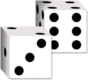 Beistle 54132 2-Pack Dice Card Boxes, 6-1/2-Inch by 6-1/2-Inch (Value 3-Pack)