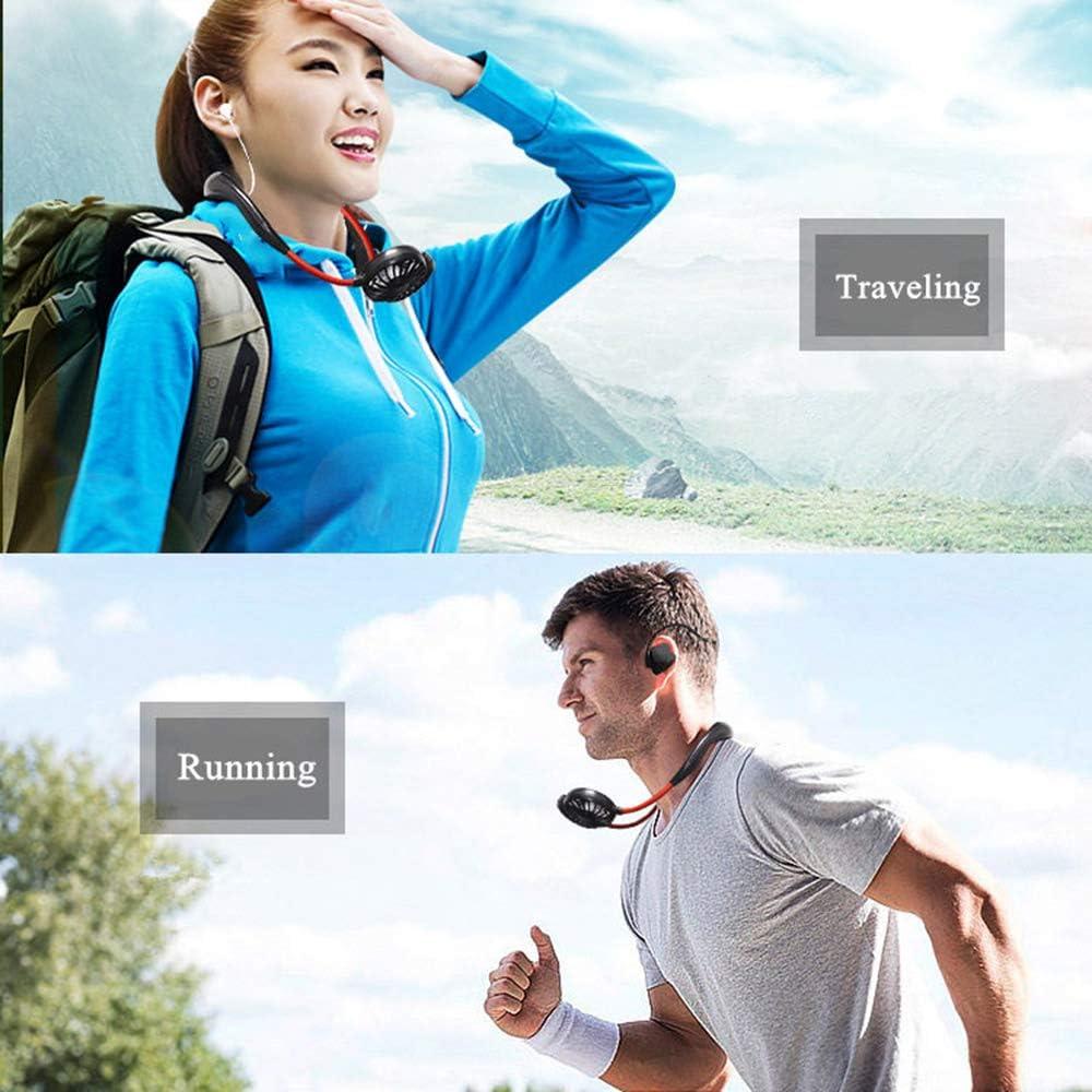FGJGJ Ventilateur USB Portable Rechargeable /électrique Ventilateurs Ventilateur /à Main Silencieux /à Rotation sur 360 /° 3 Vitesses R/églables id/éal pour /Ét/é Int/érieur Ext/érieur 1800mAh