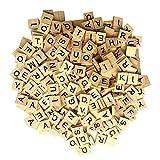 Maggift Wooden Letter Tiles (300 Pieces)