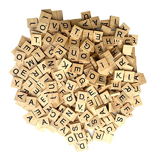 Wooden Letter Tiles 300 Pieces