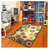 Cheap Furnish my Place Floral Abstract Area Rug