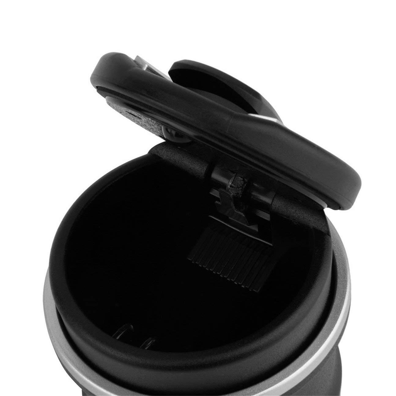 negro Bandeja de ceniza del coche de material pl/ástico ign/ífugo Cenicero Taza de almacenamiento con LED para BMW 1 3 4 5 7 Serie X1 X3 X5 X6