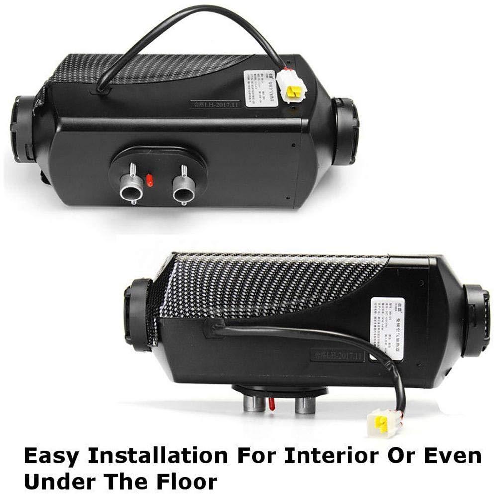 Calentador de aire diesel, 12V 5KW Calentador de vehículos para furgonetas, camiones, vehículos recreativos, remolques de automóviles, botes, monitores de ...