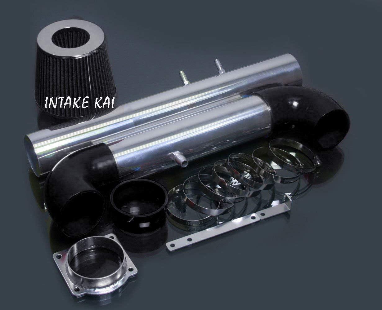 FILTER FOR 2000-2002 LINCOLN LS 3.9 3.9L 2002 FORD THUNDERBIRD 3.9L V8 ENGINE PERFORMANCE AIR INTAKE KIT BLACK