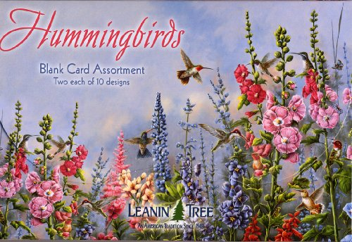 (Hummingbirds - Blank Card Assortment by Leanin' Tree (AST90633) - 20 cards with full-color interiors and 22 designed envelopes)