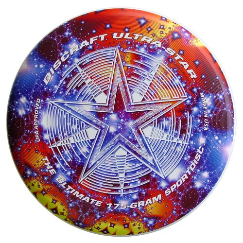 Discraft 175 Gram Super Color Ultra-Star Disc, Starscape - Sport All Frisbee