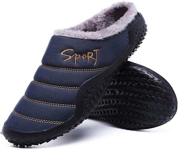 Pantofole Uomo Donna Invernali Scarpe Caldo Peluche All Aperto Interno Casa Antiscivolo Morbido Suola Ciabatte Amazon It Scarpe E Borse