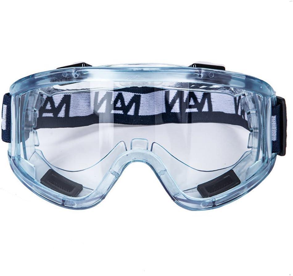 ENJOHOS Gafas protectoras de trabajo Antivaho Hombre Tamaño Elipse Anti-arañazos Seguridad Cocina Laboratorio UV Velo MTB Motocicleta Esquí