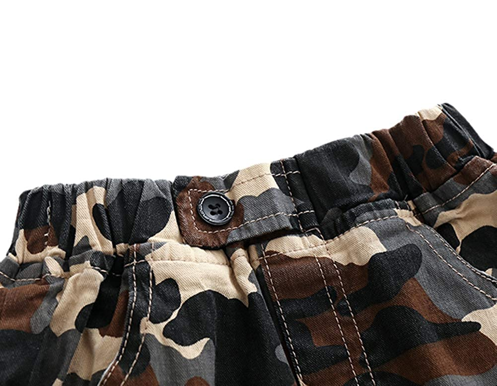 Bfsports Toddler Baby Summer Casual Camo Print Short Pants Little Boys Pull-on Outdoor Playing Shorts