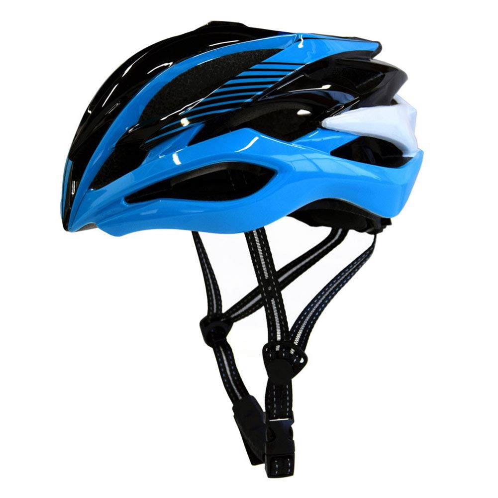 GLEI-TK Erwachsene Bike Helmet LED Impact Resistant, Light Weight, Adjustable Fit EPS, PC Sports Road Cycling Recreational Cycling Cycling Bike,Blau