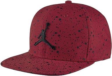 NIKE Speckle Print Snapback Gorra Línea Michael Jordan de Tenis, Hombre, Rojo (Gym Red/Black), Talla Única: Amazon.es: Ropa y accesorios