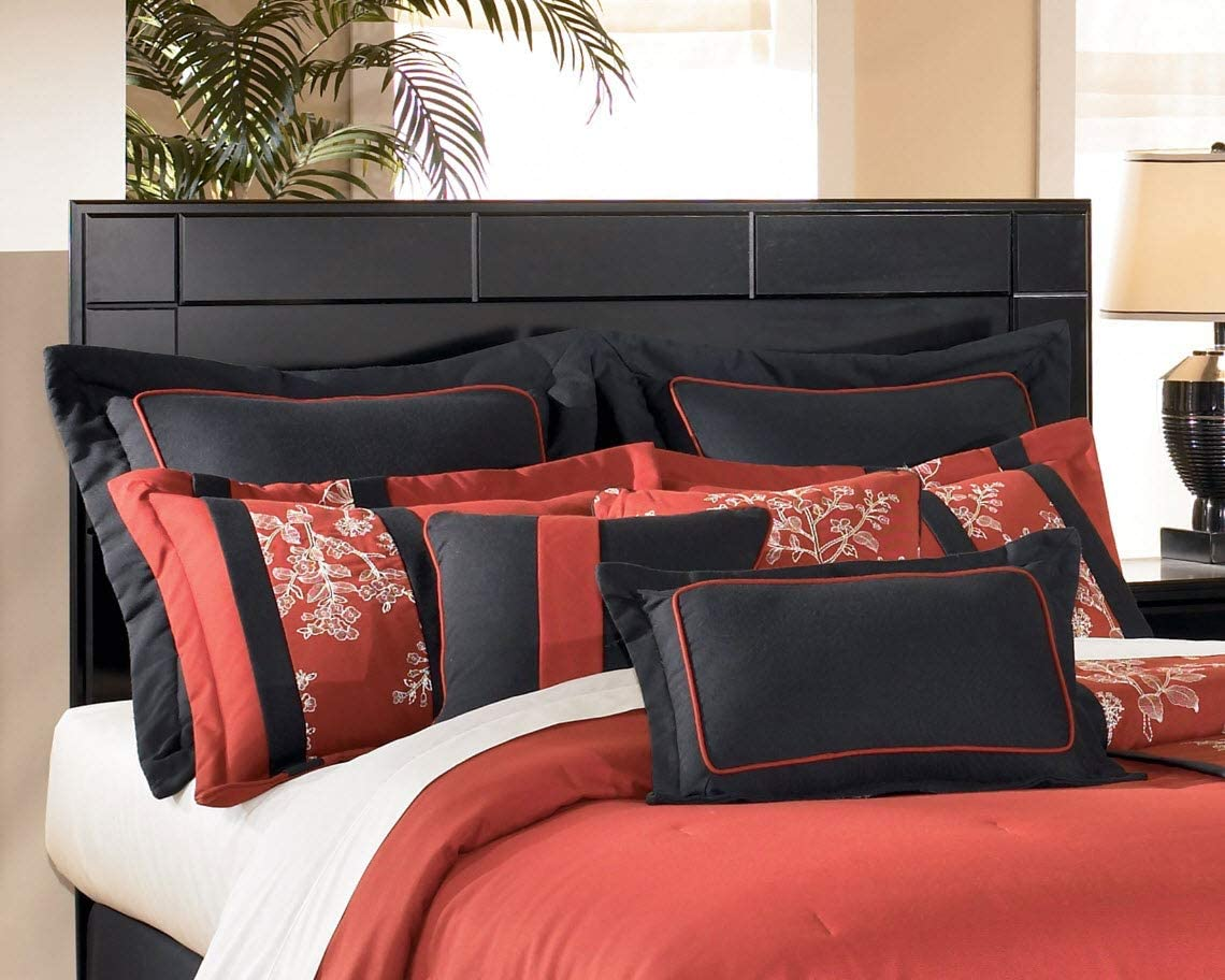 Ashley Furniture Signature Design - Shay Panel Headboard - Queen/Full Size - Contemporary Living - Almost Black