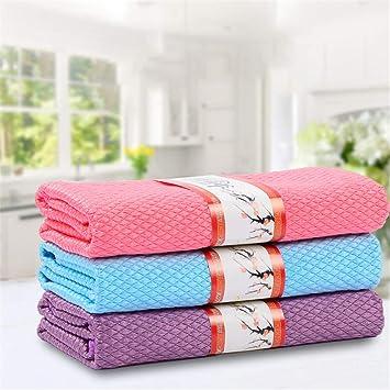 Toallas de microfibra para limpiar el polvo, toallas de platos y cristales, 40 x 50 cm: Amazon.es: Hogar