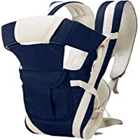 BRANDONNBaby 5 in 1 Carrier Bag with Different Positions Baby Carrier (Navy, Front Carry Facing Out with Belt)