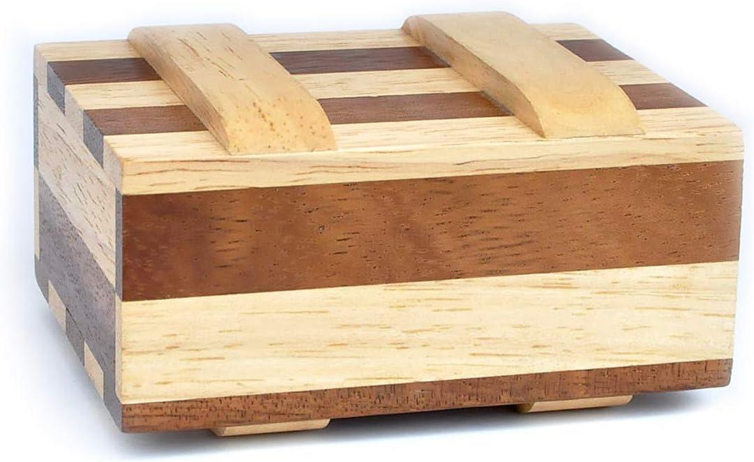 Difficulty 3//6 Hard Leonardo da Vinci Collection Wooden Brain Teaser in Fine Wood Secret Box Zebra Box Logica Puzzles Art Magic Money Box