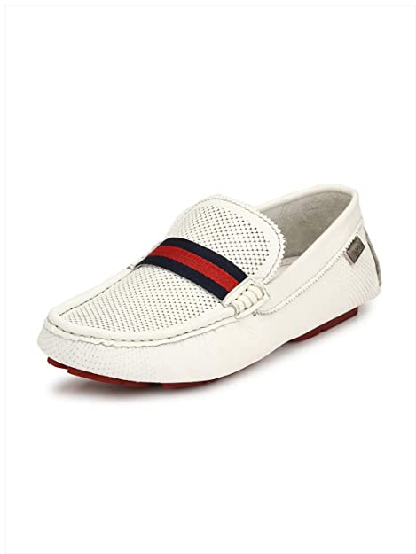 Buy HITZ White Loafers for Men at Amazon.in