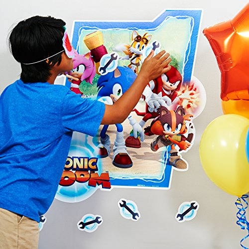 BirthdayExpress Sonic Boom Party Supplies - Stick The X Party Game