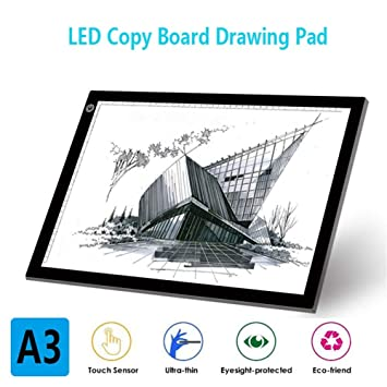 LED Mesa De Luz Dibujo A3 Tracing Light Box Light Pad con Cable De ...